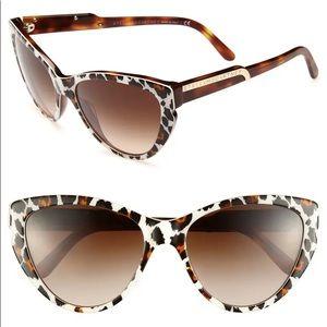 Stella McCartney Leopard Print Cat Eye Sunglasses